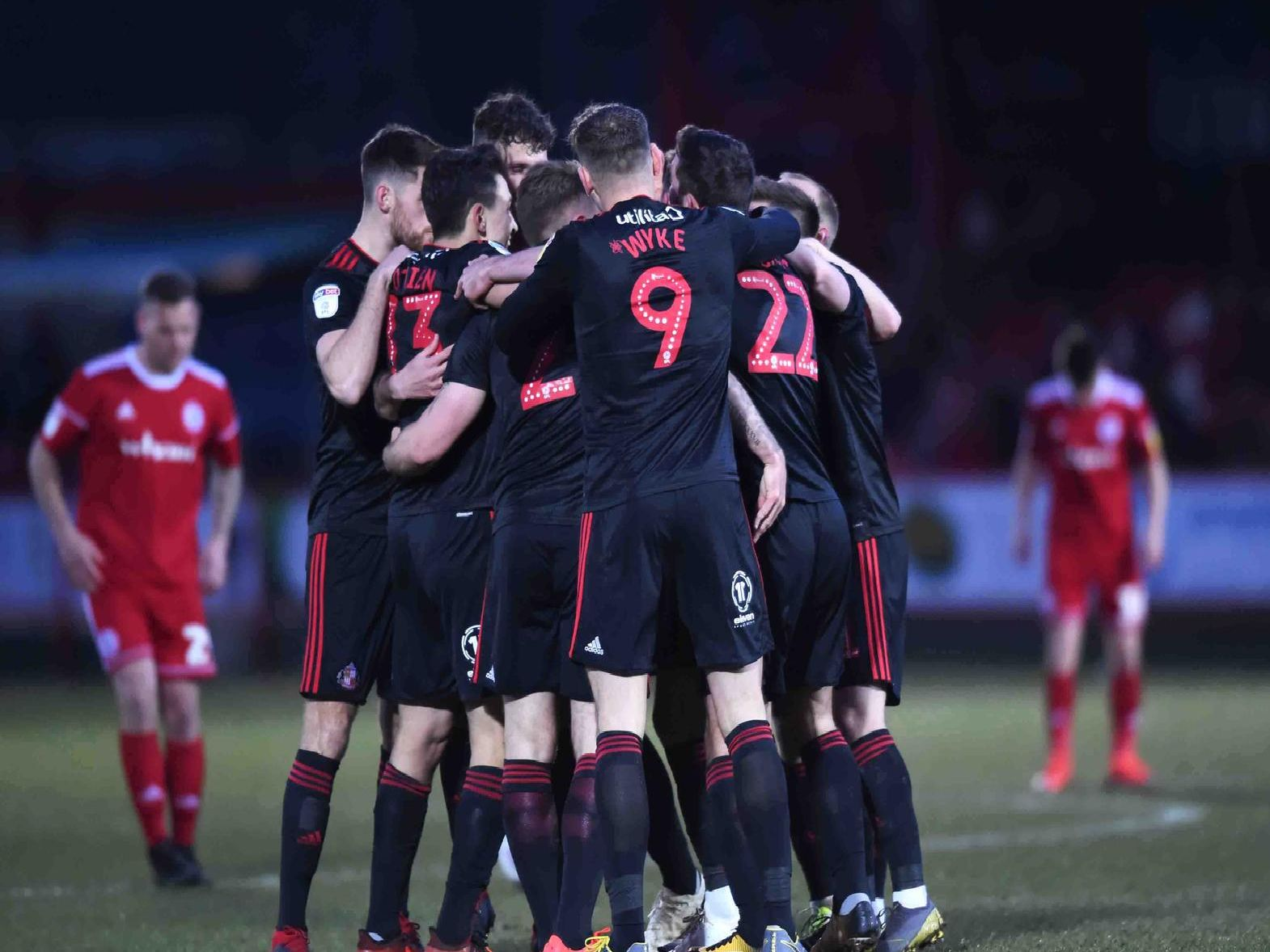 Who stood out for Sunderland AFC at Accrington Stanley?