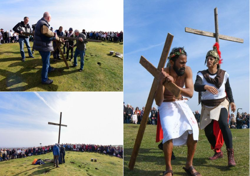 Observing the Good Friday tradition.