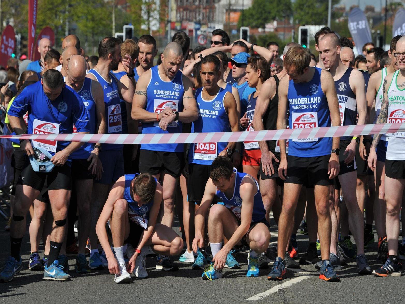 Ready for the off at the start of the Siglion Sunderland 10k.