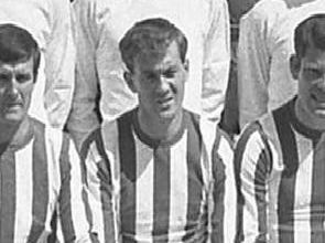 Former Sunderland striker Harry Hood, pictured in a 1966 team photo, has died at the age of 74.