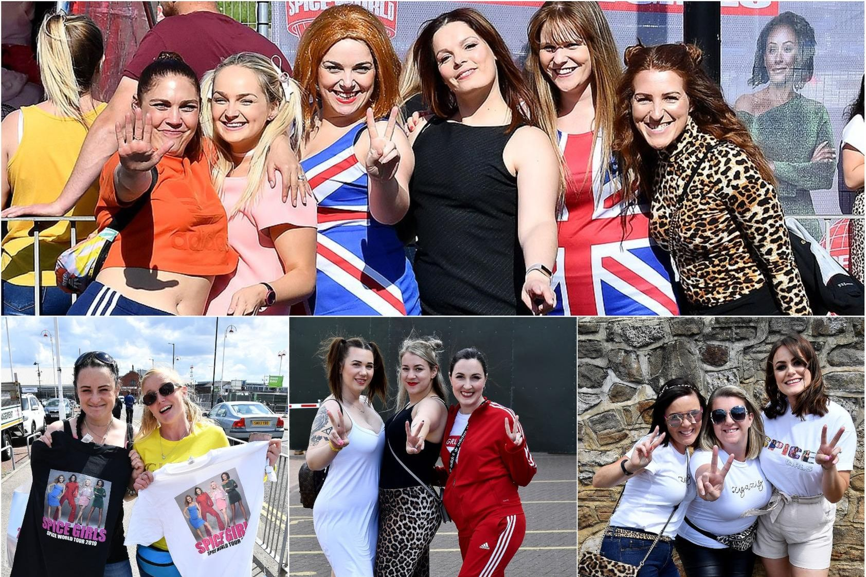 Thousands of fans have been getting ready to see the Spice Girls in Sunderland.
