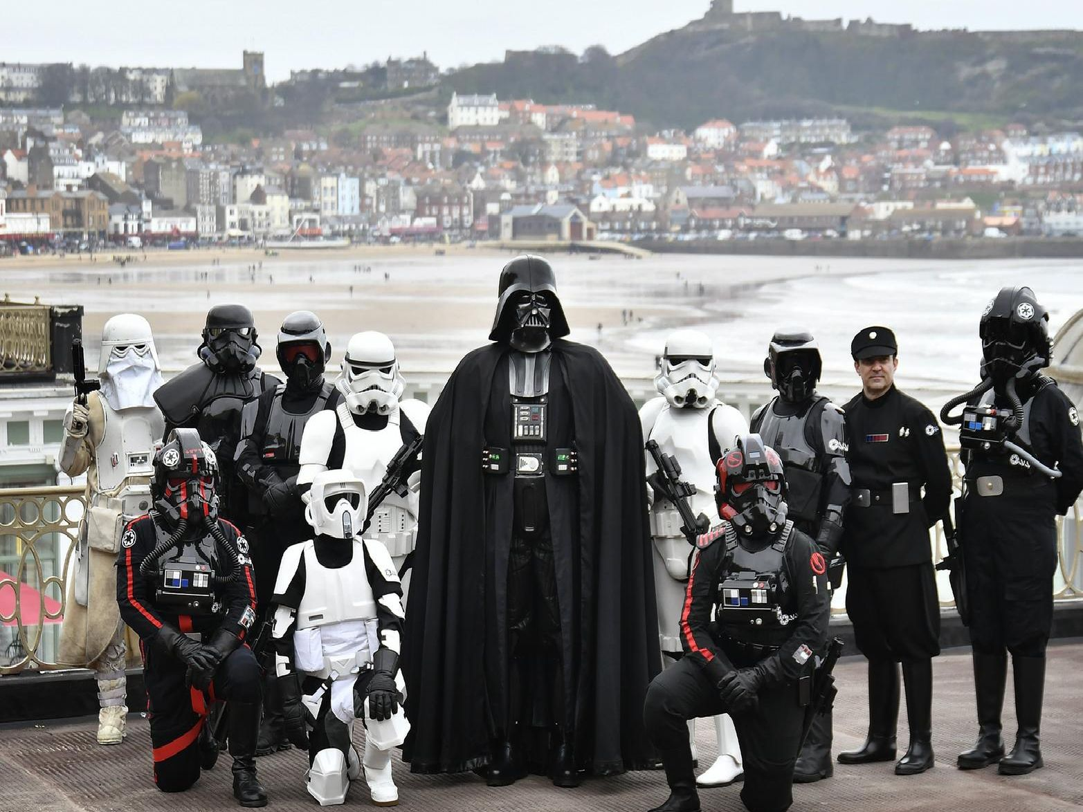 Darth Vader arrives with his Imperial troops.