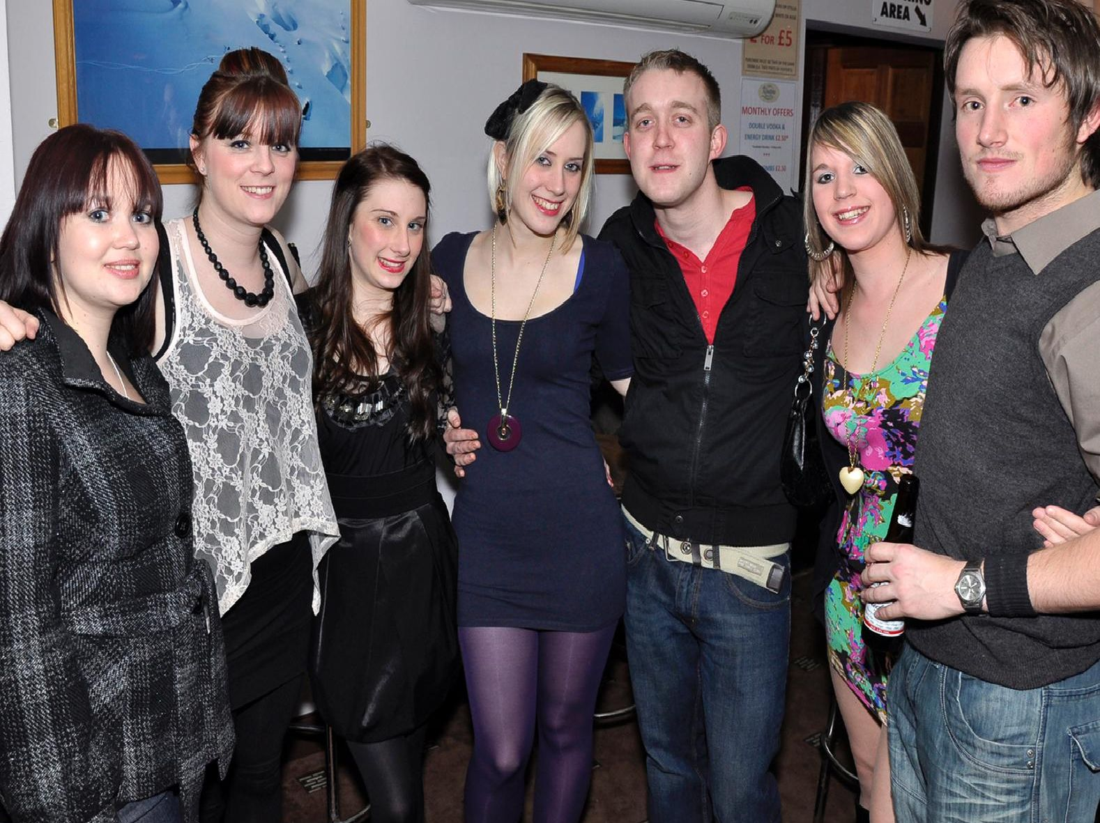 28 photos from a night out in Klosters in 2010.