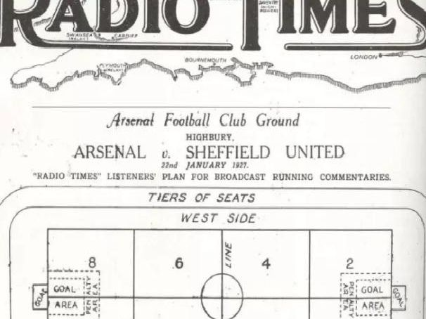 On This Day 1927 Sheffield United Feature In World S First Live