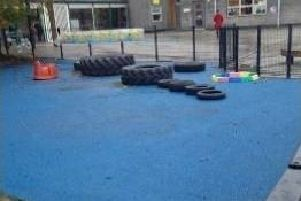 The playground at Ann's Grove Primary, in Heeley