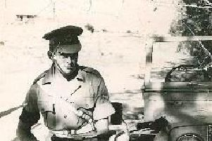 Tony Bown during his time with the Royal Military Police in Cyprus