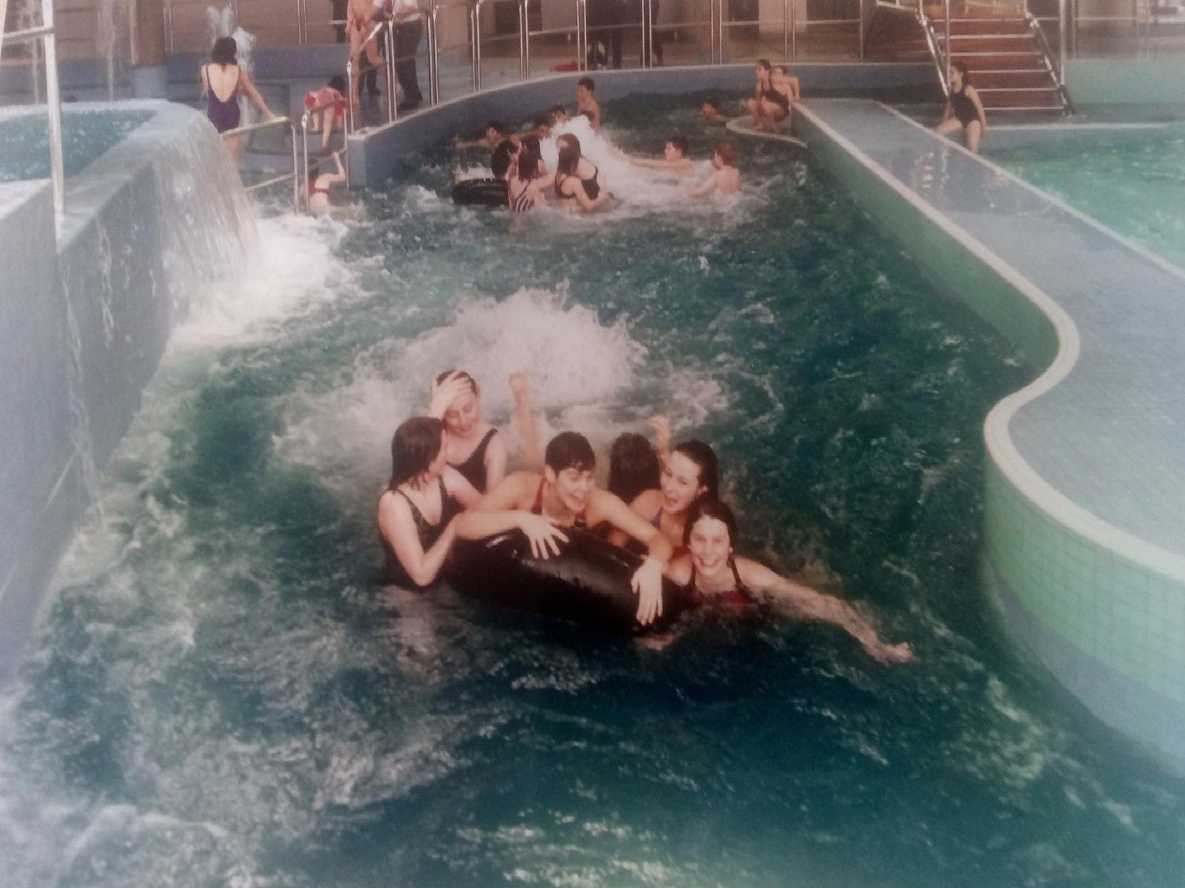 Youngsters have fun at Ponds Forge back in the early 90s.