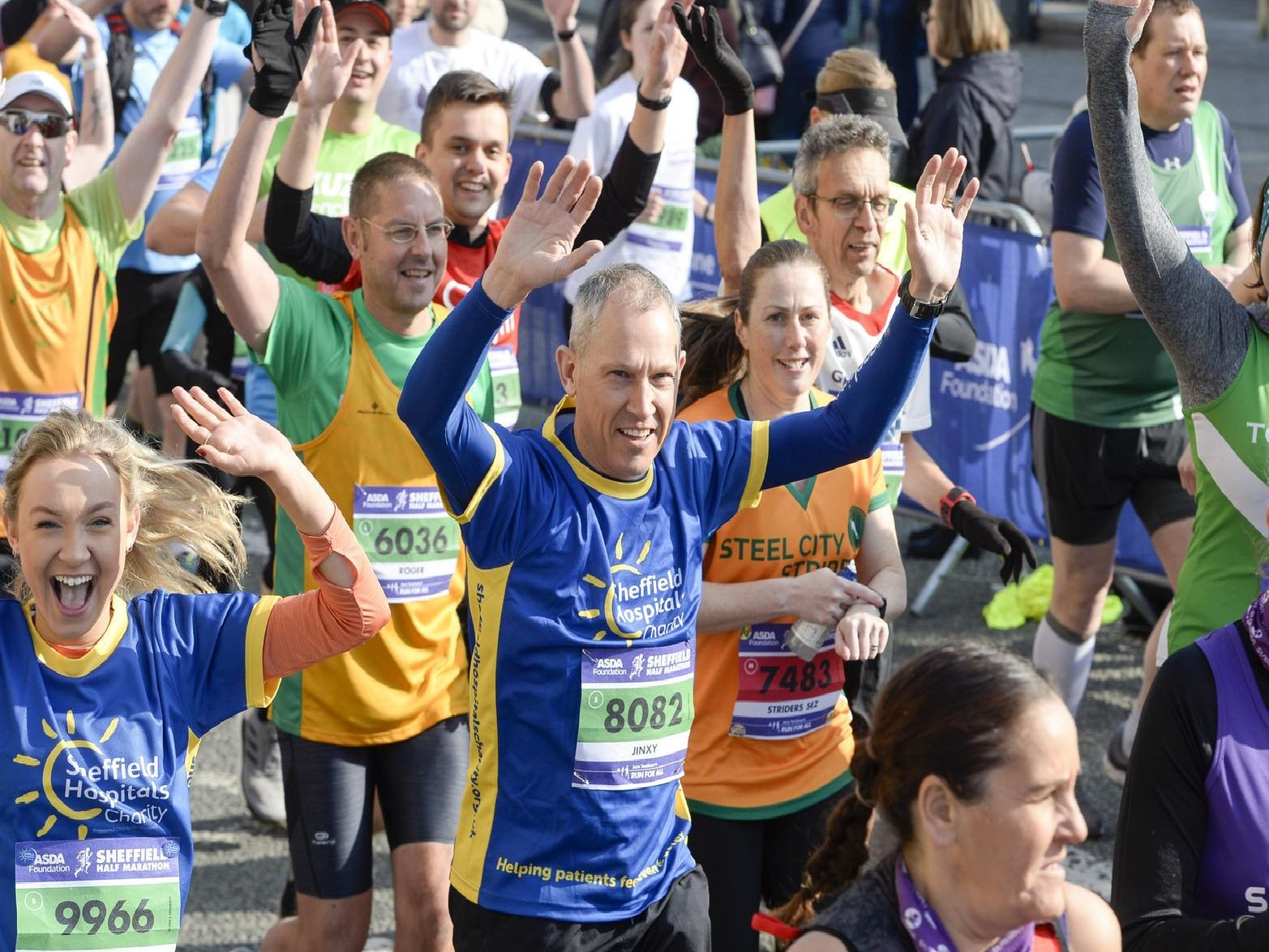 It was smiles all around as runners set off on Arundel Gate. 'Copyright JPI Media.