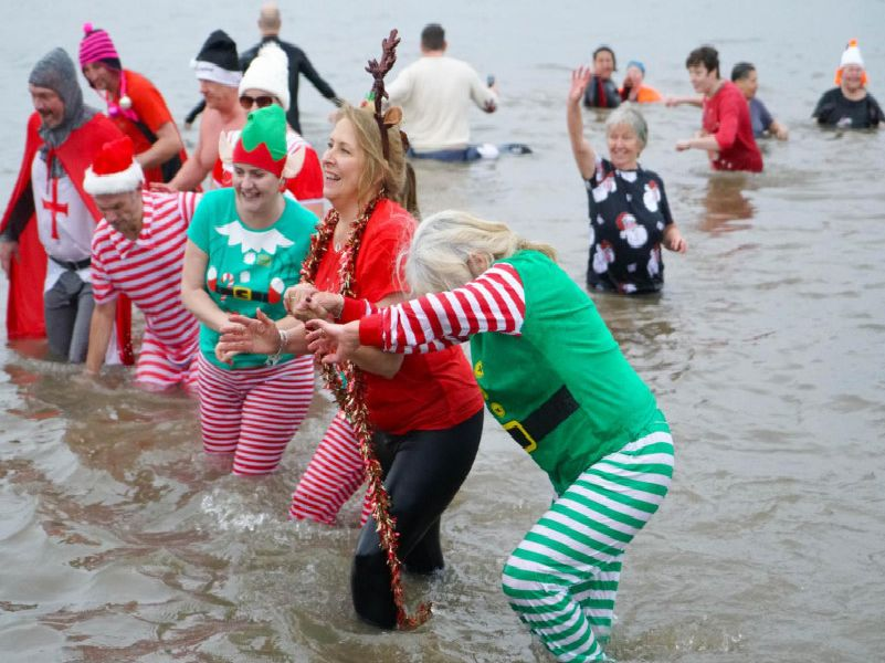Boxing Day Dip in Morecambe in aid of St John's Hospice.