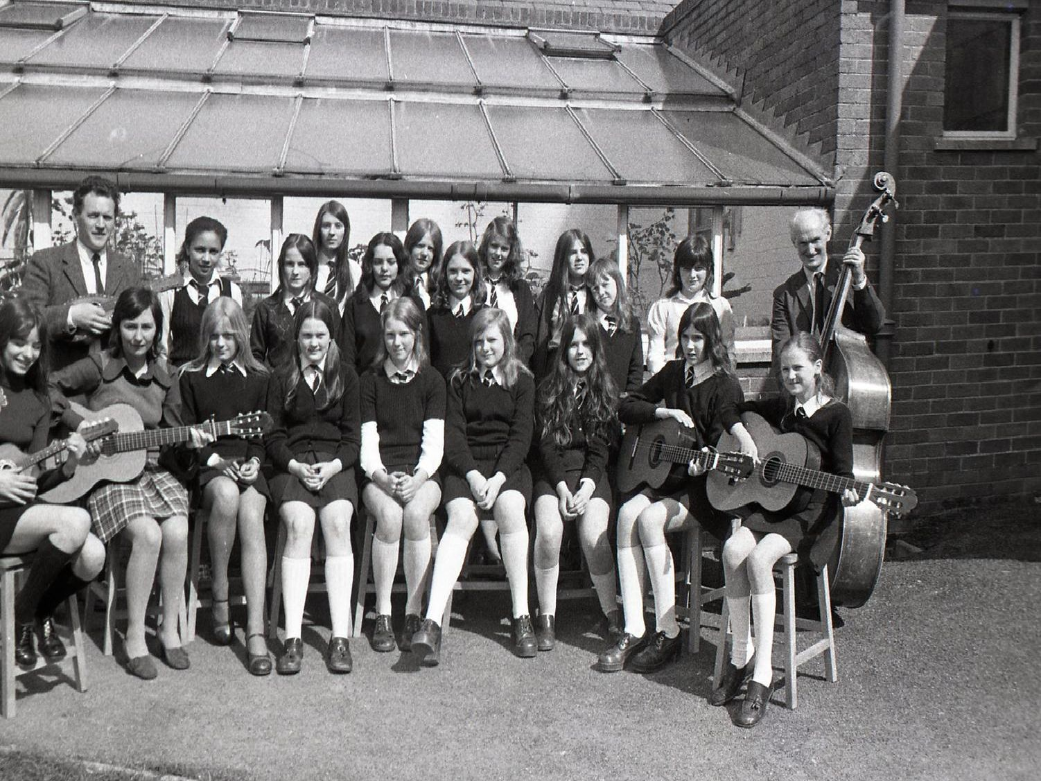 """A Preston school folk group is to be featured in a Sunday service from the Achille Ratti Climbing Club in the Lake District, which is to be recorded by the BBC. The group from St John Southworth School are getting quite used to recording sessions, for they have already played in the Home service programme """"Music Club"""" which went out in March"""