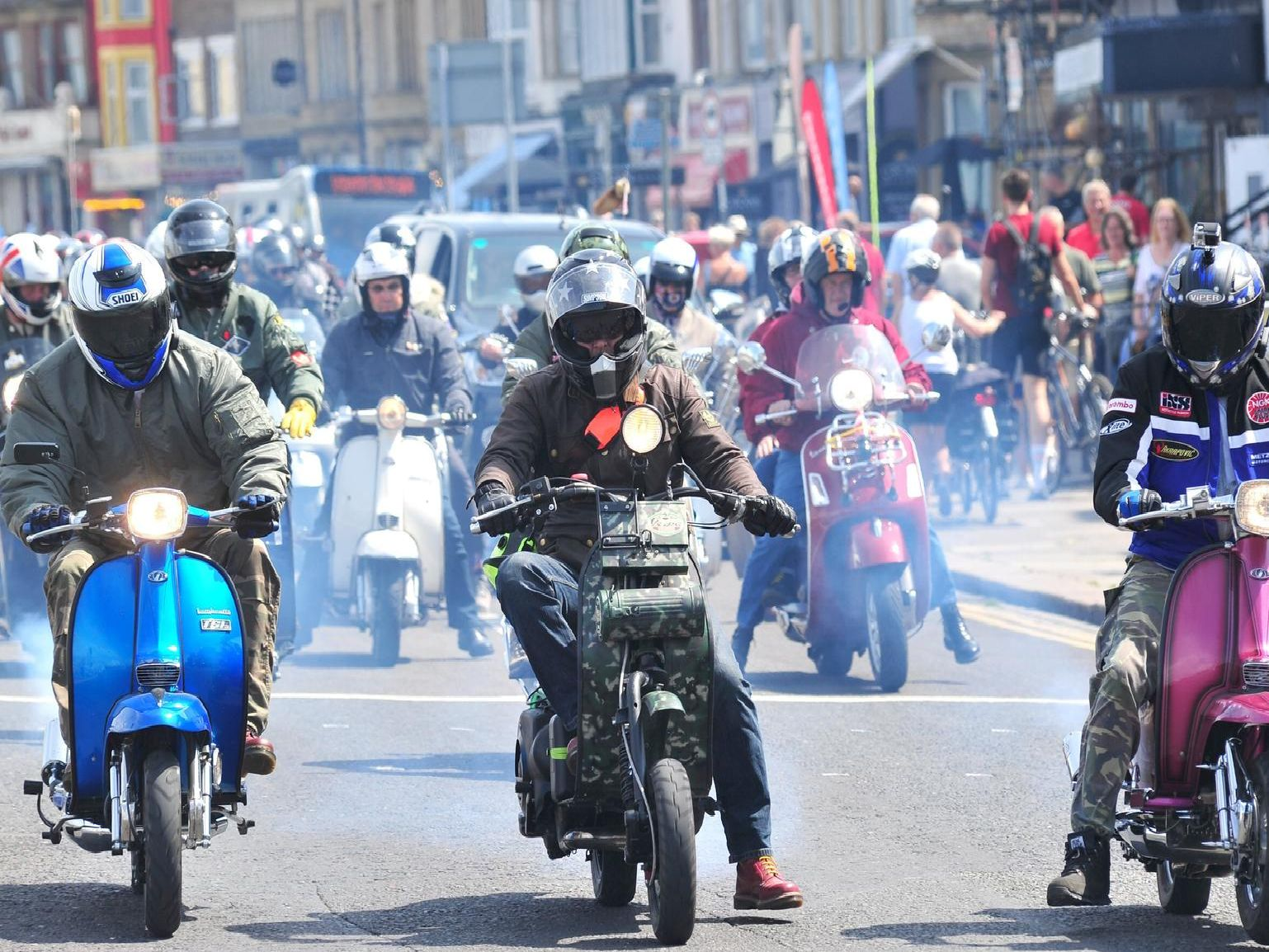 Morecambe Rides Again scooter rally.