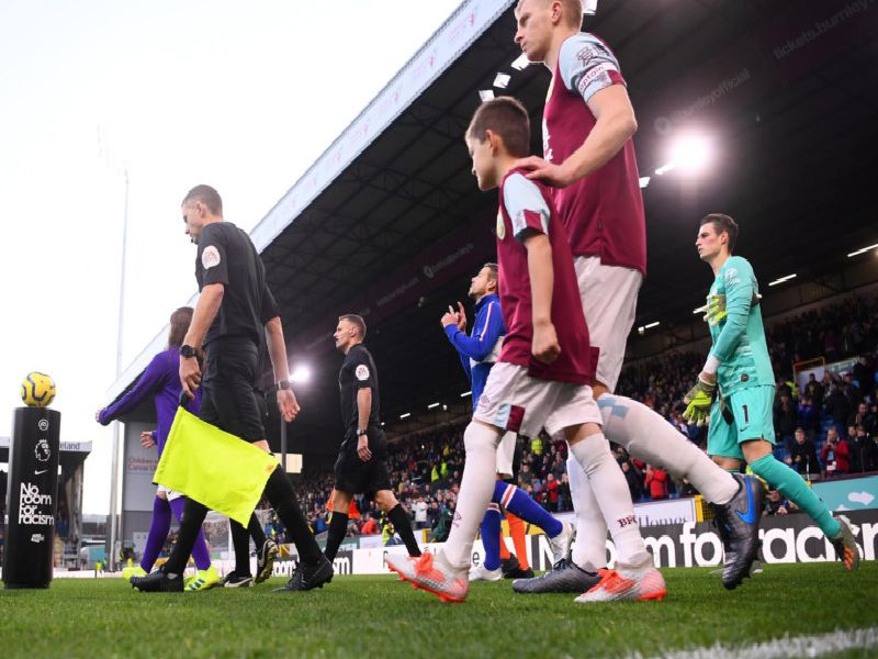 Ben Mee leads the side out