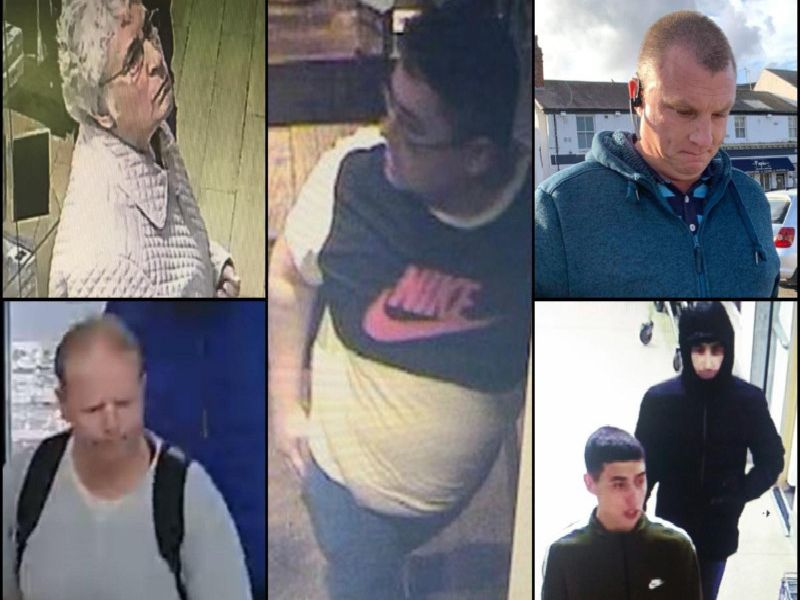 Everyone featured in our latest picture gallery is being sought in connection with an ongoing criminal investigation, but images may be of both potential suspects and witnesses: If you have any information call CrimeStoppers on 0800 555 111.