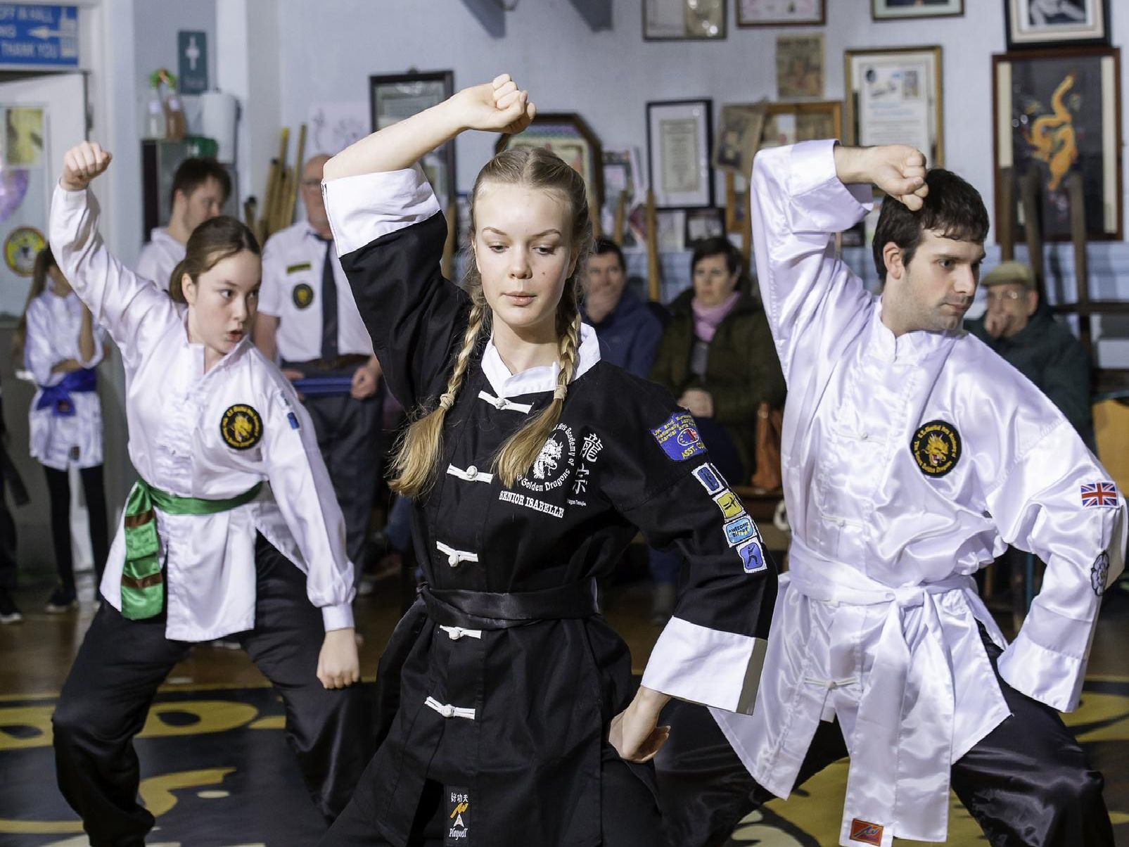 Displays were put on at Eamon Timmons' Martial Arts Academy.