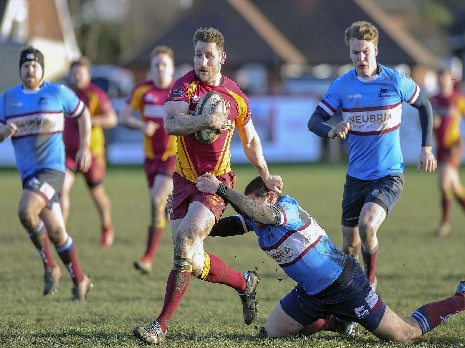 Action from Sandal's win over Wilmslow.