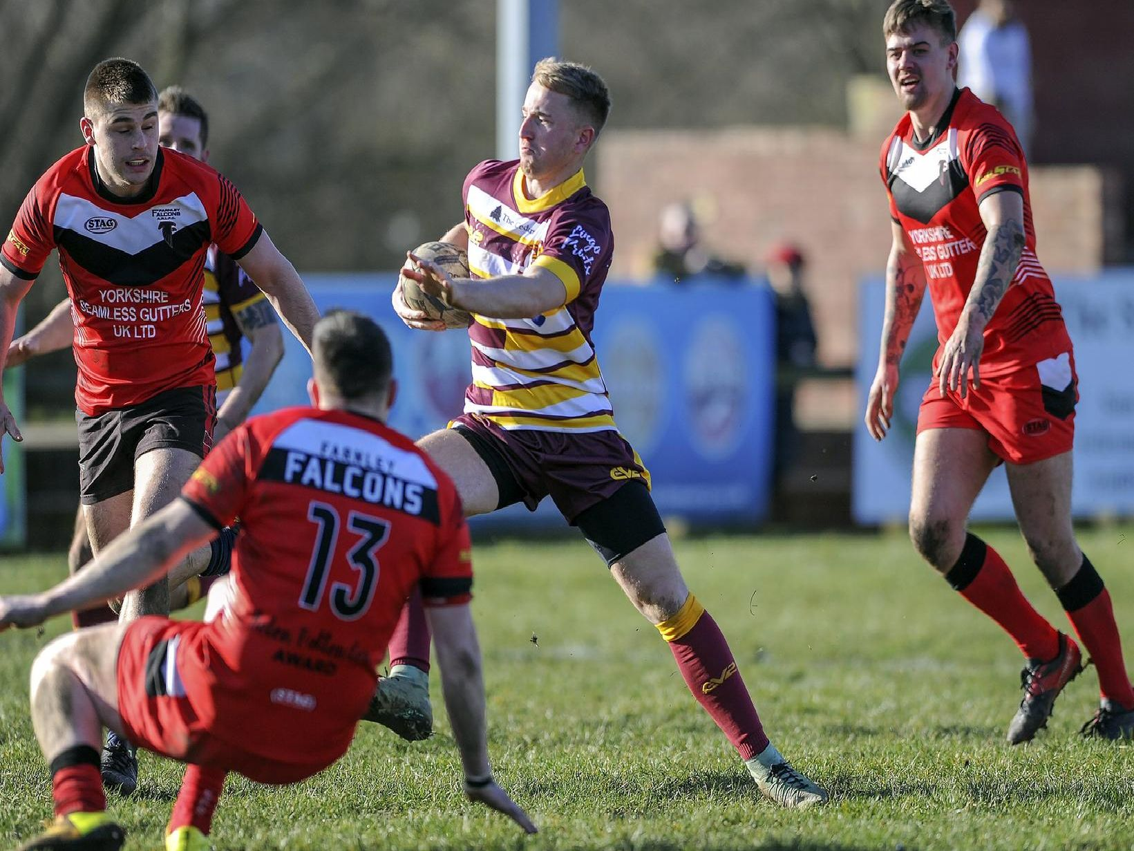 Action from Wakefield Hawks' landmark game against Farnley Falcons