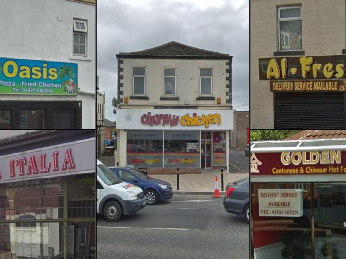 Below are the 27 takeaways in Wakefield which have been rated for food hygiene since the start of 2019.
