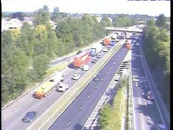 A collision on the A1 atJ38, Redhouse,near Skelbrooke has closed lane two of the northbound carriageway.Picture: Highways England