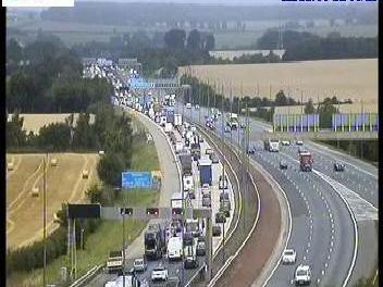It is understood that a heavy volume of traffic, believed to be the result of drivers heading to Leeds Festival, has led to the delays.Photo: Highways England