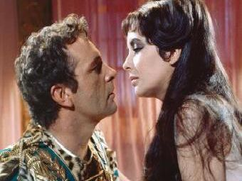 Richard Burton and Elizabeth Taylor were married - twice - and played Anthony and Cleopatra in a lavish film version of the torid romance