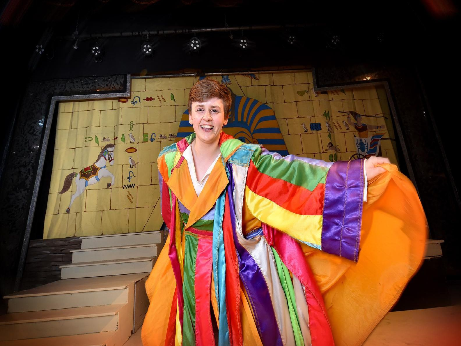 Kian Moore plays the title role in the YMCA production of Joseph and his Amazing Technicolour Dreamcoat