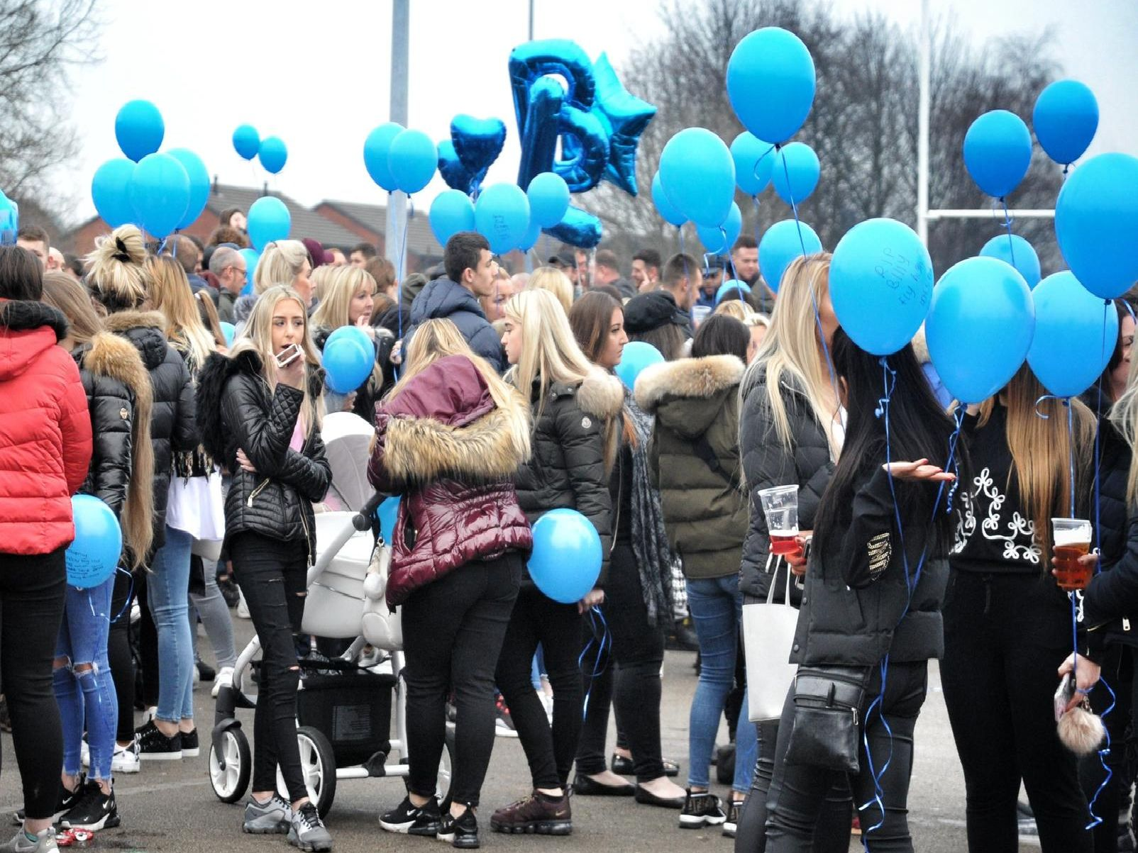 Hundreds gathered to honour Billy