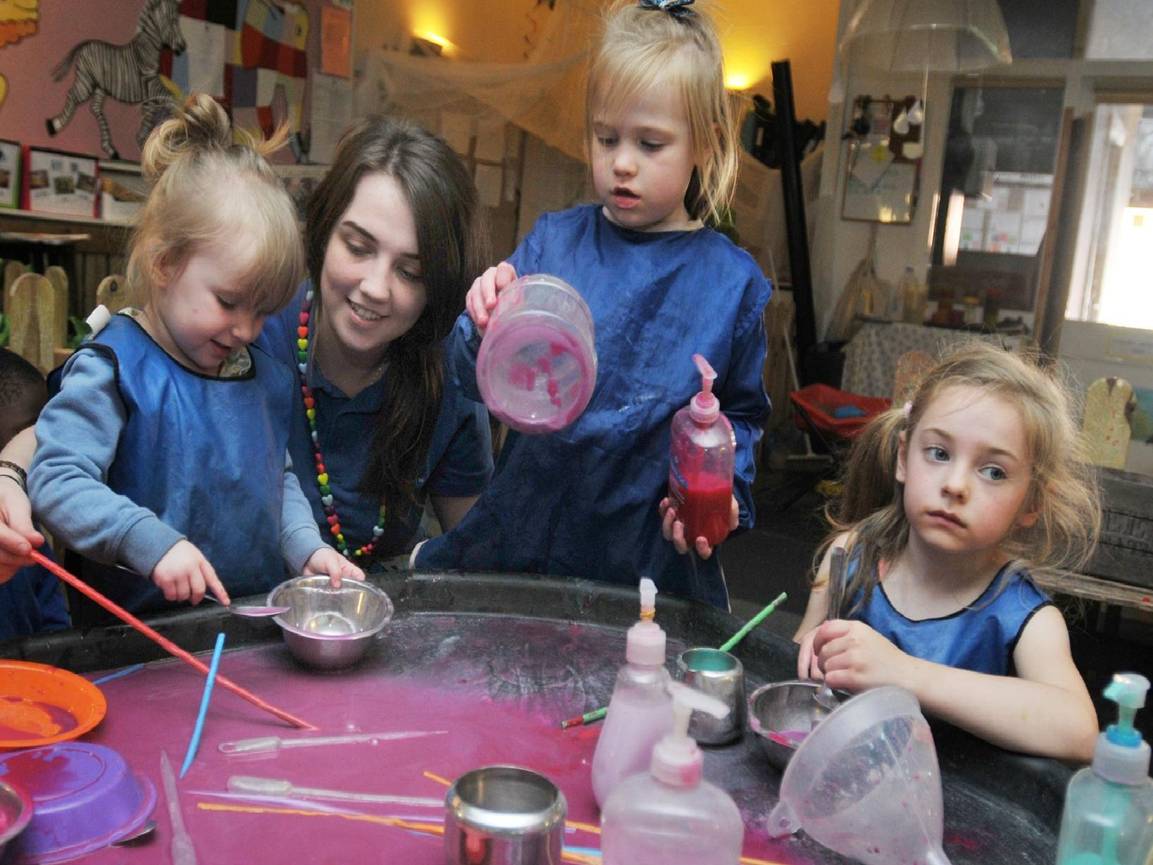 Kids get crafty with paint, clay and hand soaps at The Wendy House Nursery.