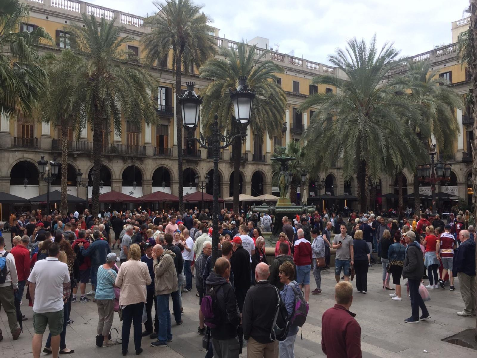 Wigan Warriors fans in Barcelona