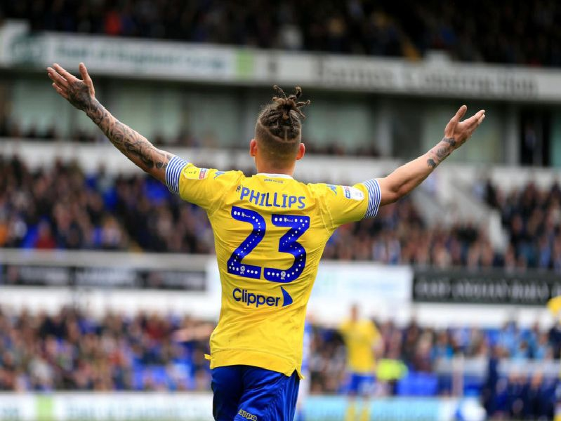 Leeds United midfielder Kalvin Phillips