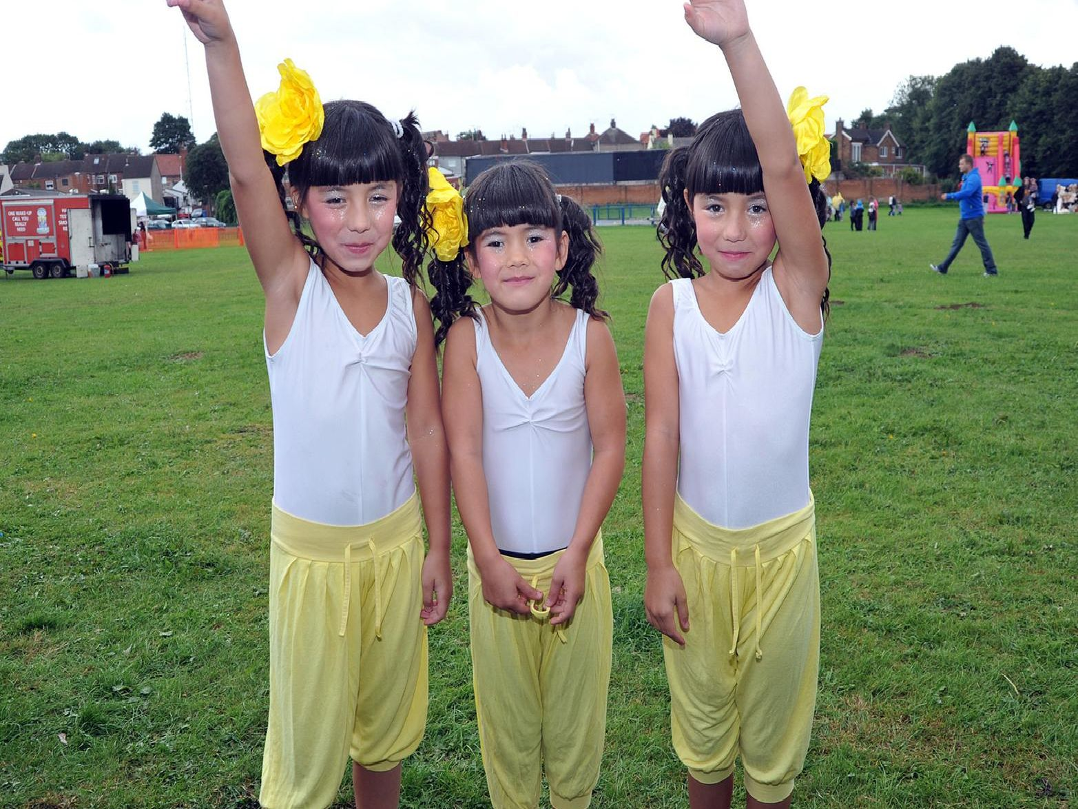 2010: These three girls are getting ready for their performance at the Help for Heroes fun day. Did you perform at this event held at Farr Park in Worksop?