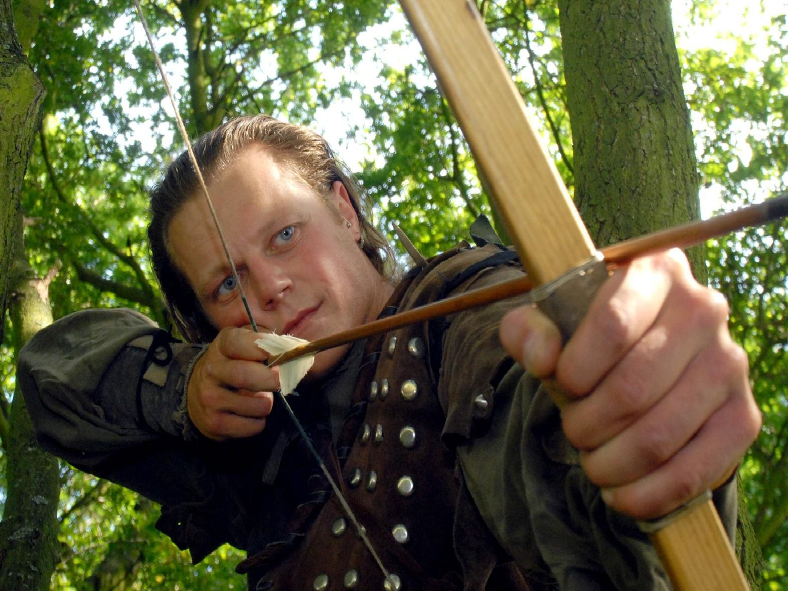 The outlaw Robin Hood, one of Nottinghamshire's most famous sons