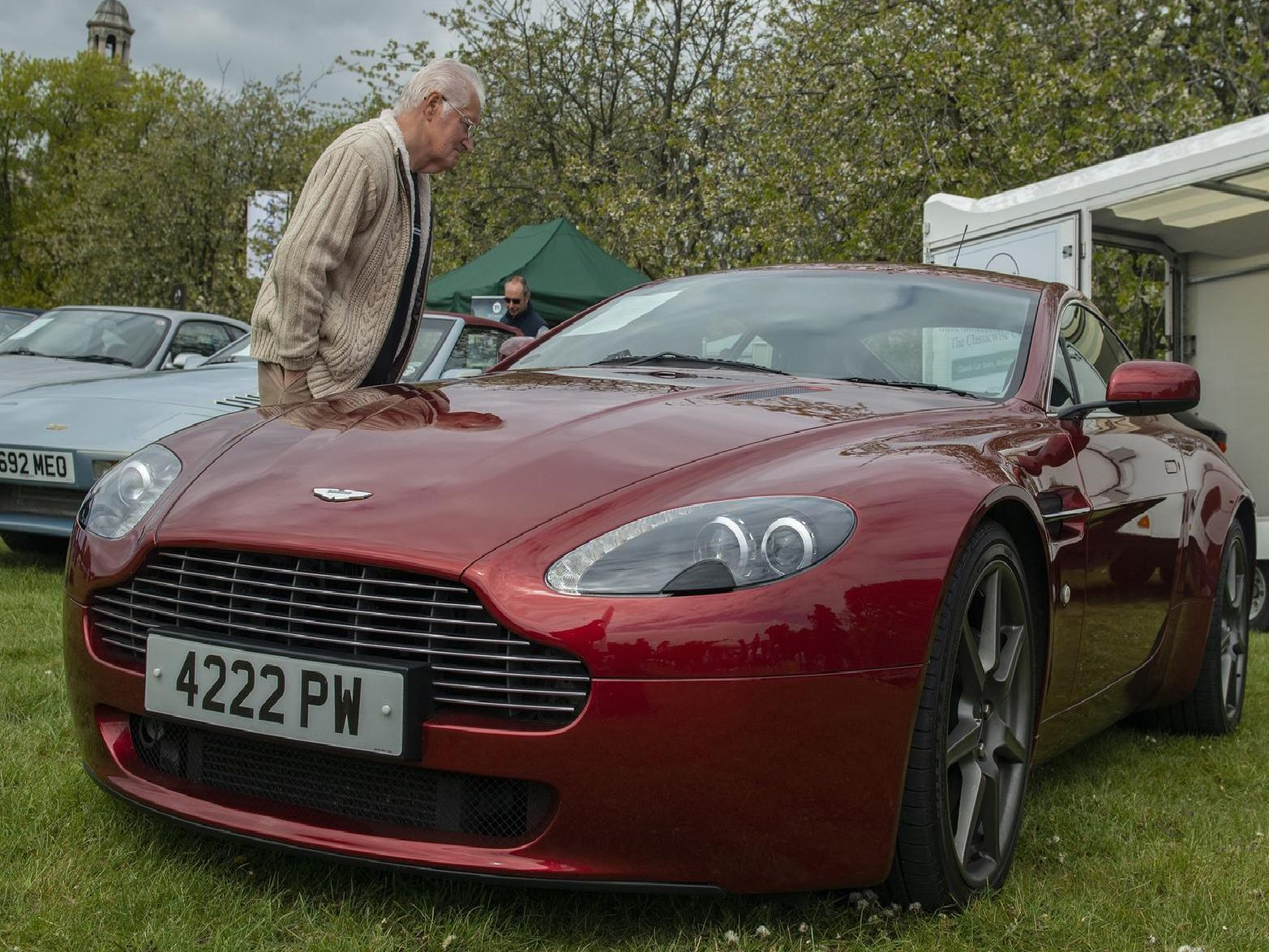 Visitors were able to see the selection of classic cars at the event