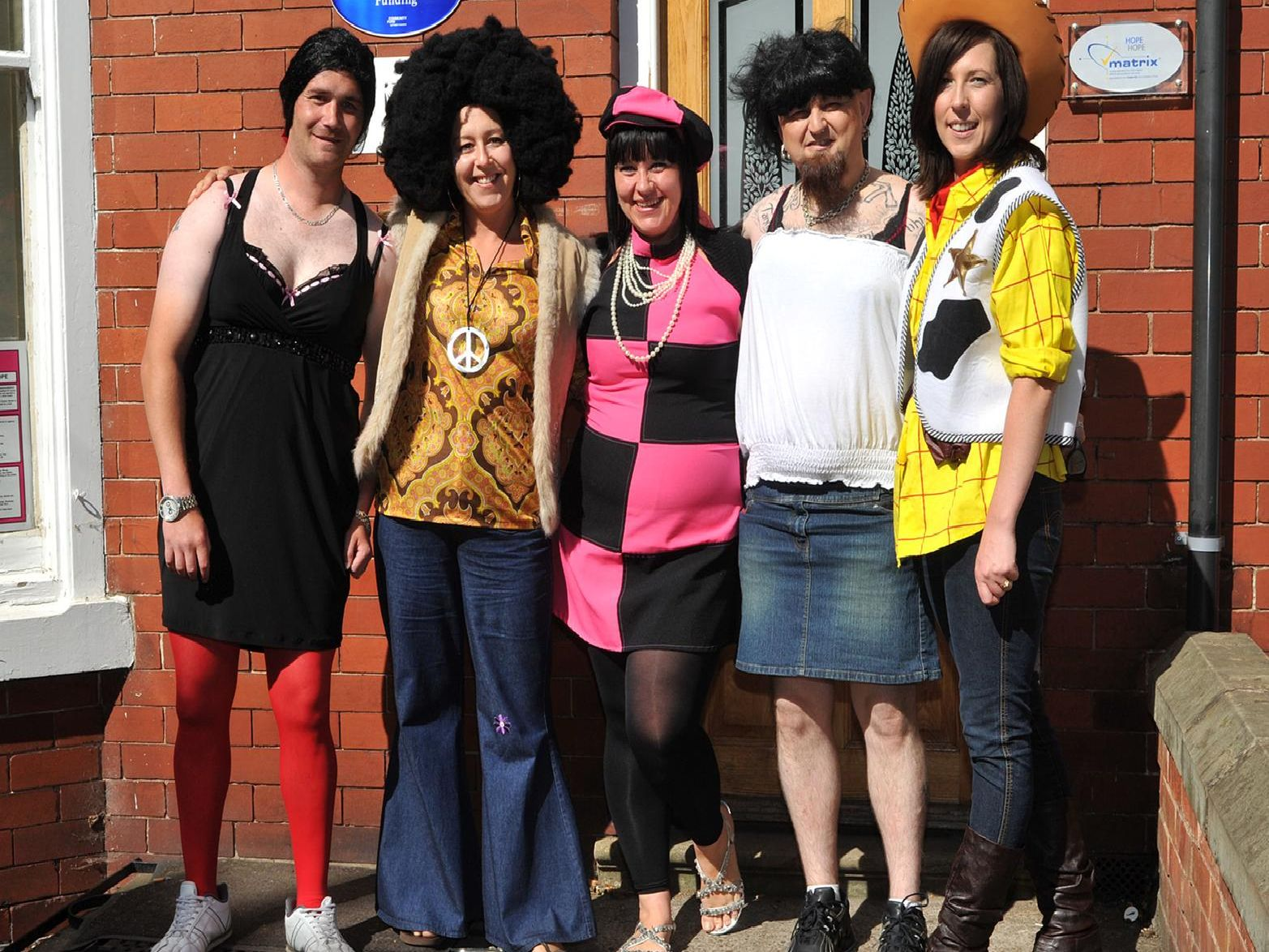 2010: This smiley bunch took part in a fancy dress sponsored walk to raise money for  Hope For The Homeless on Queen Street in Worksop. Are you on this picture?