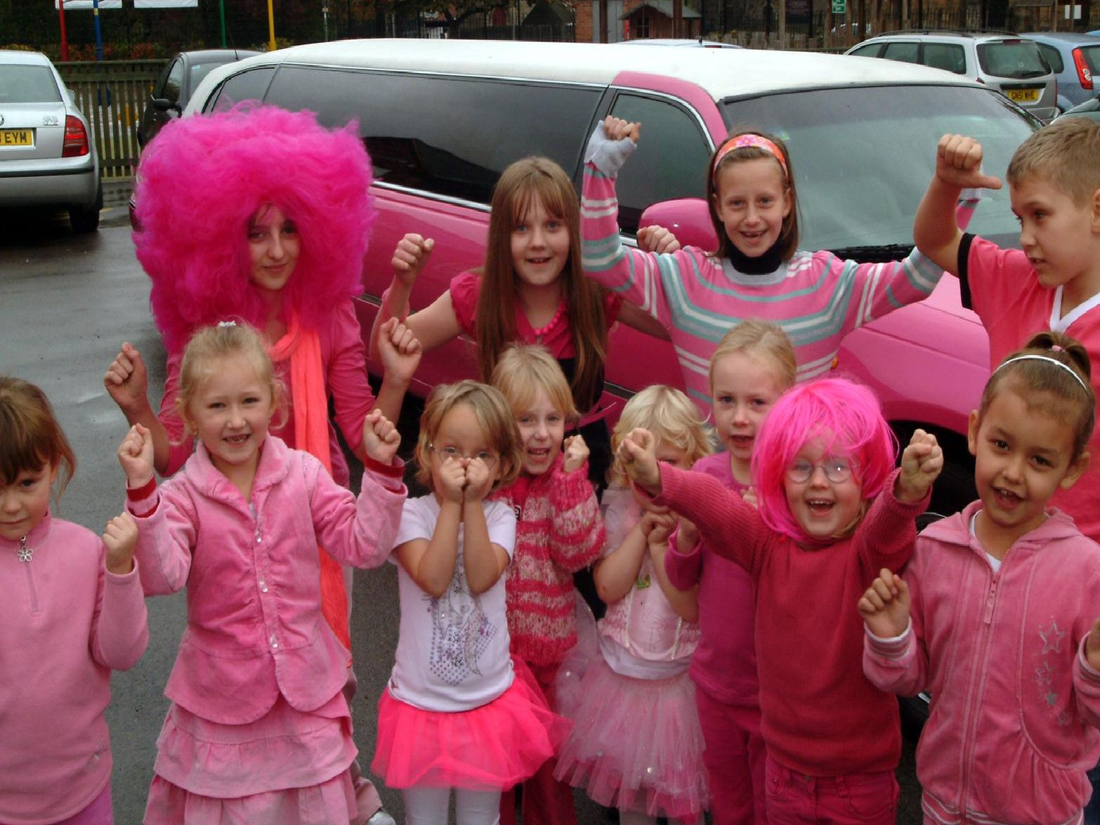 2009: Pupils from Ryton Park School in Worksop dress in pink to raise money for Cancer Research. Are you on this picture?