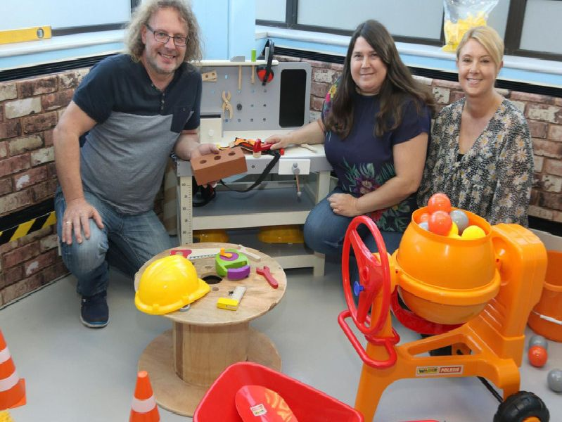 Owners Peter Dabill, Karen Scott and Sharon McCook in the construction area
