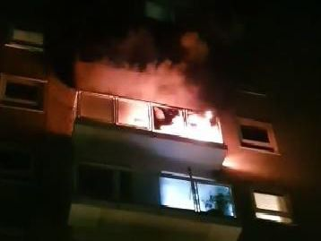 Shocking footage shows flames from Bramley flats as emergency services rush to major incident