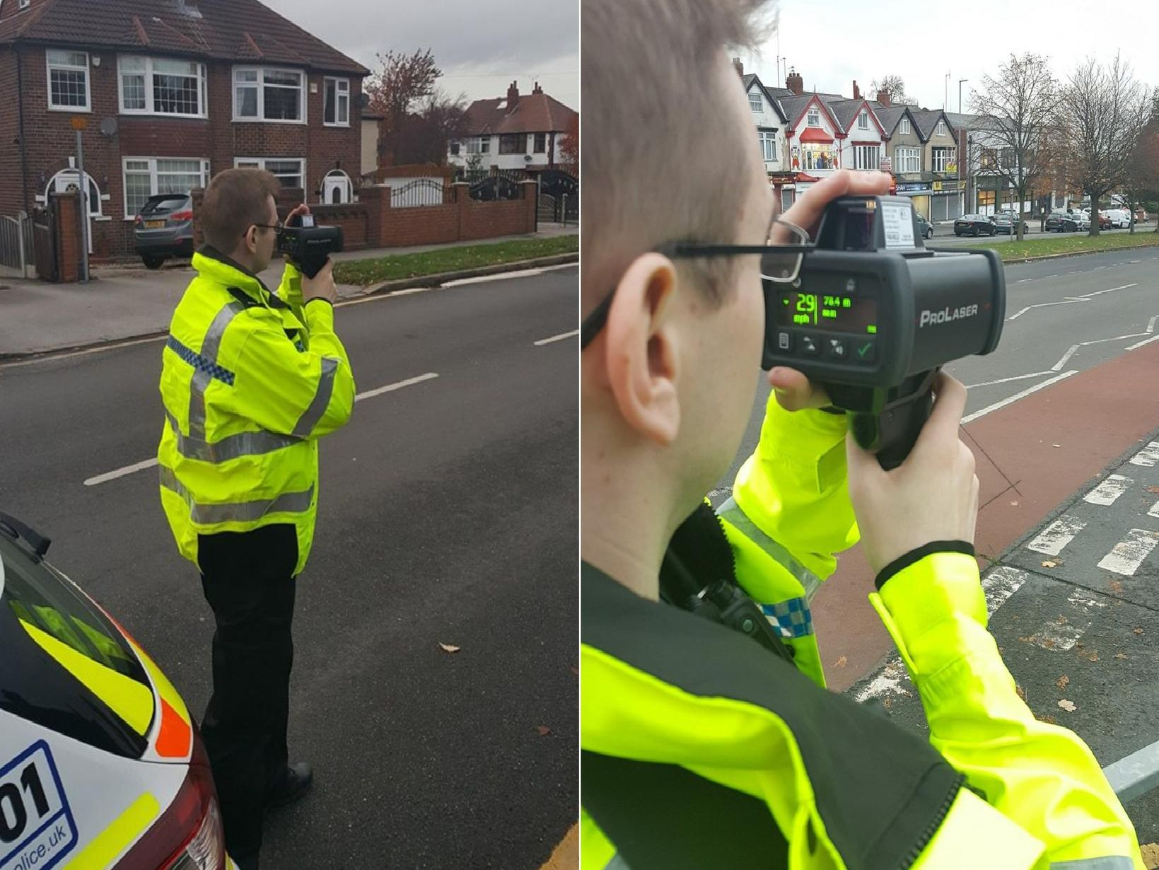 Mobile speed camera locations.