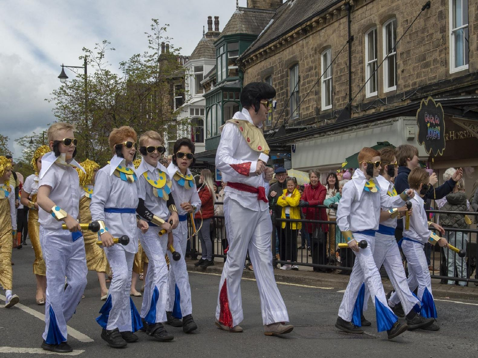 A group of Elvises at the Ilkley Carnival parade