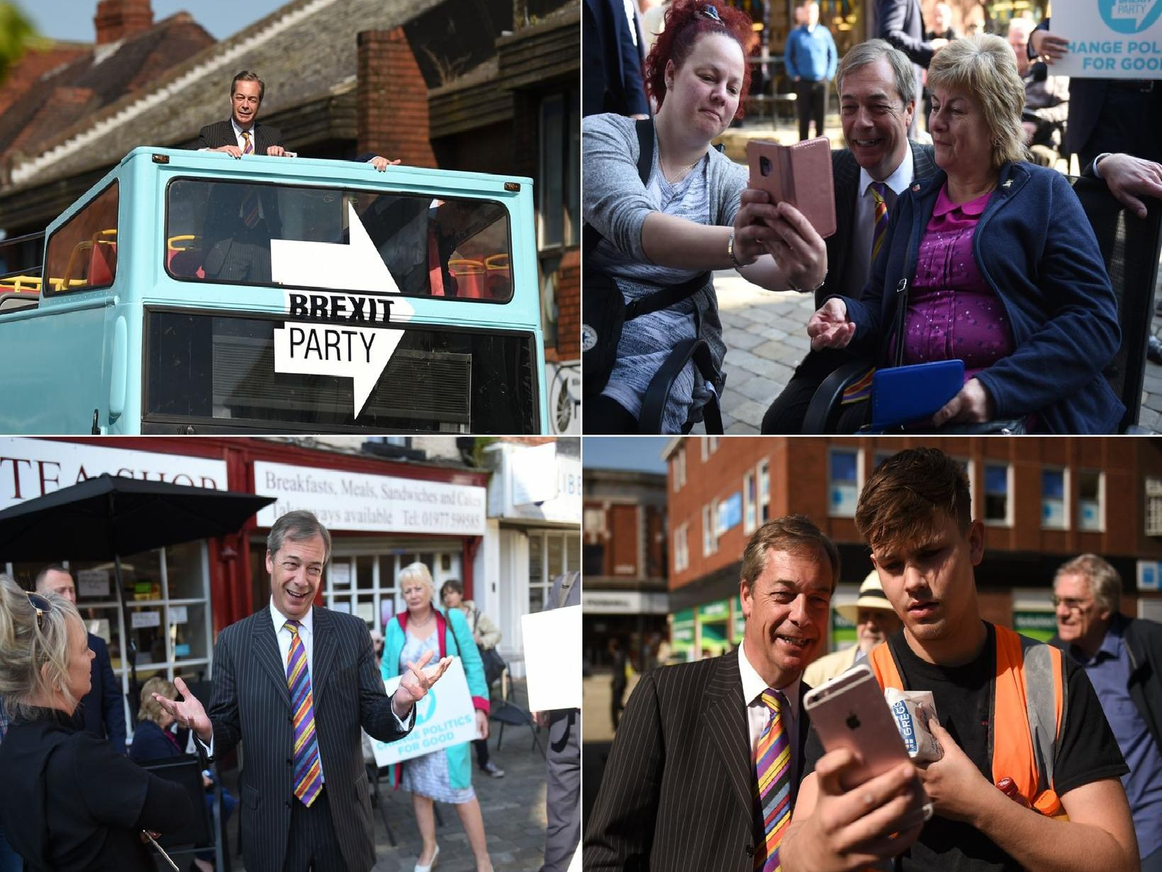 The day Brexit Party leader Nigel Farage visited Pontefract