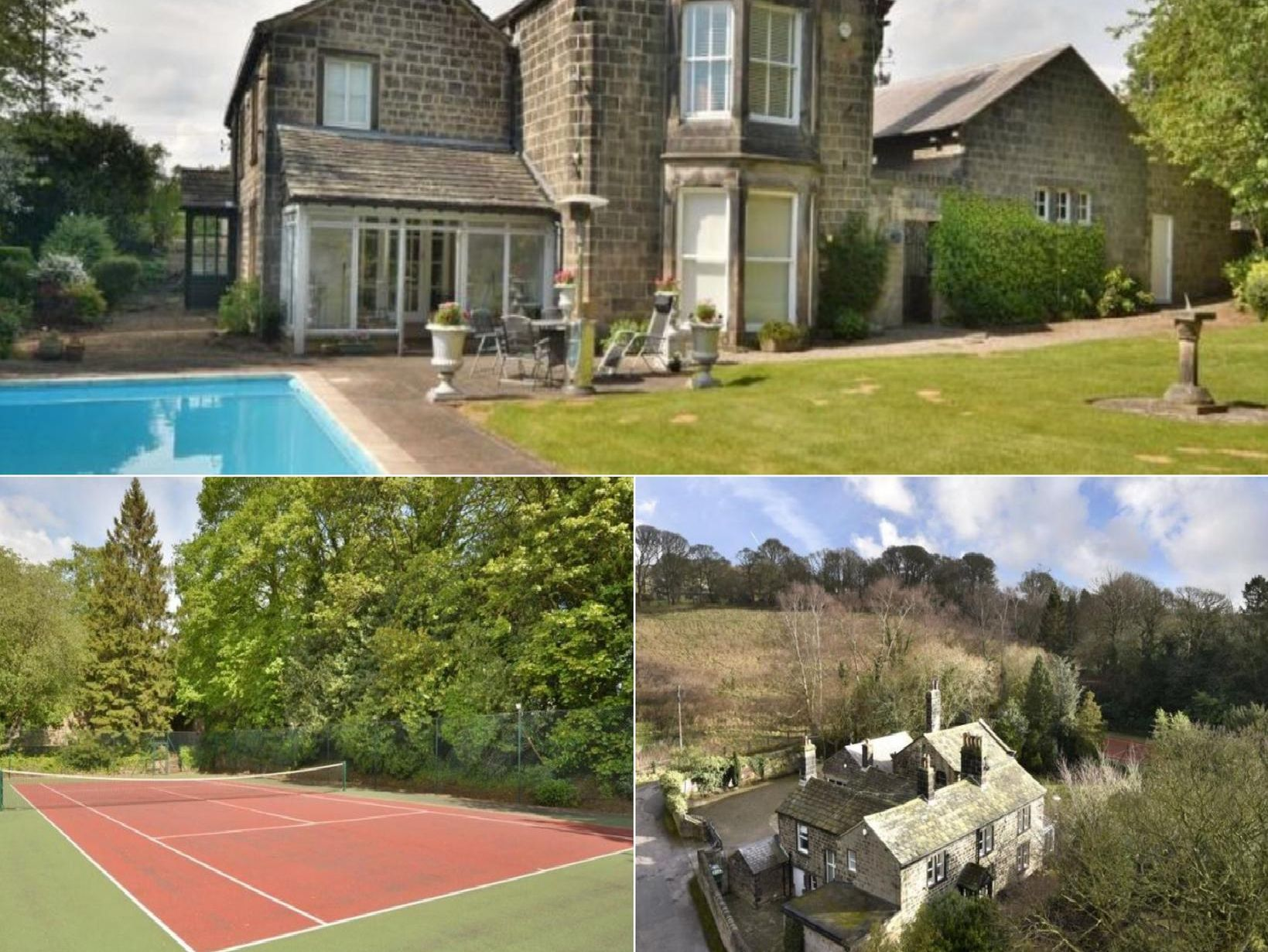 Go inside the £1.4m Leeds mansion boasting a swimming pool and tennis court
