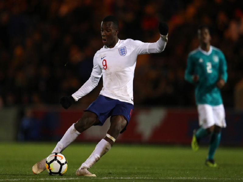 Eddie Nketiah will be in action for England's under-21s.