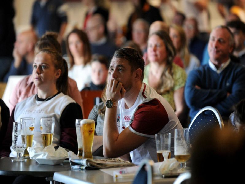 England fans during the first half