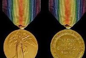 Two medals from the First World War were stolen in West Yorkshire. Photo provided by WYP.