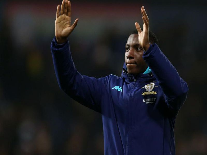 Eddie Nketiah waved goodbye to Leeds United last night