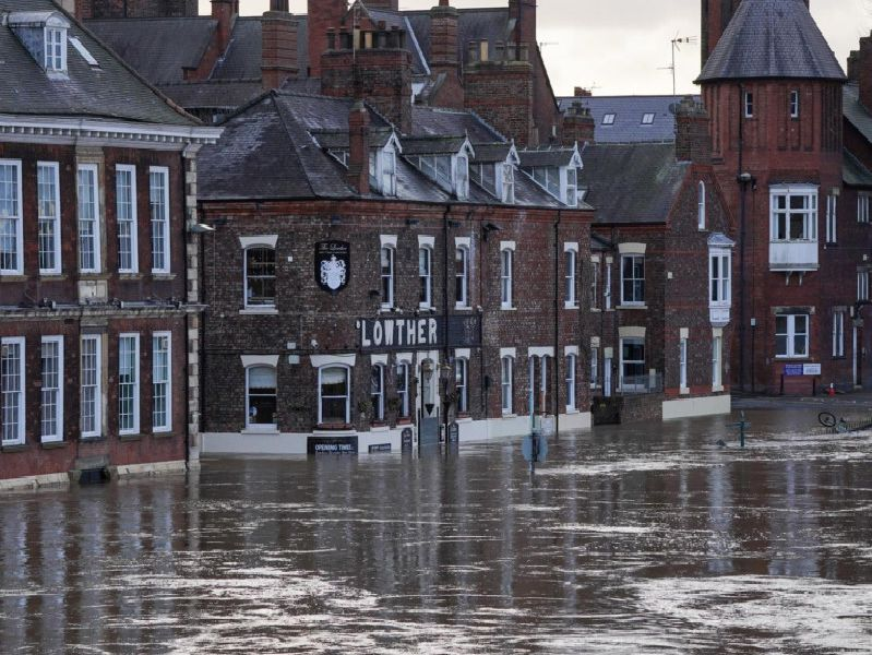 The Lowther pub has flooded badly