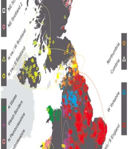 Map Of England Showing Yorkshire.Tell Tale Dna Scotches Myths Over Norsemen Yorkshire Post