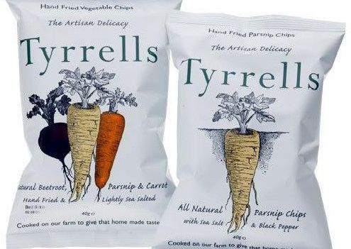 Undated Tyrrells handout photo of their Hereford based product Tyrells  Potato Chips. 11541e514