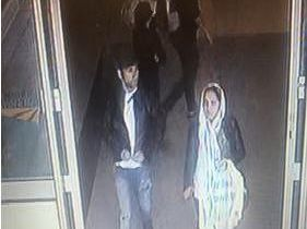 A man and woman suspected of stealing a purse from Upper Crust cafe at Leeds Station