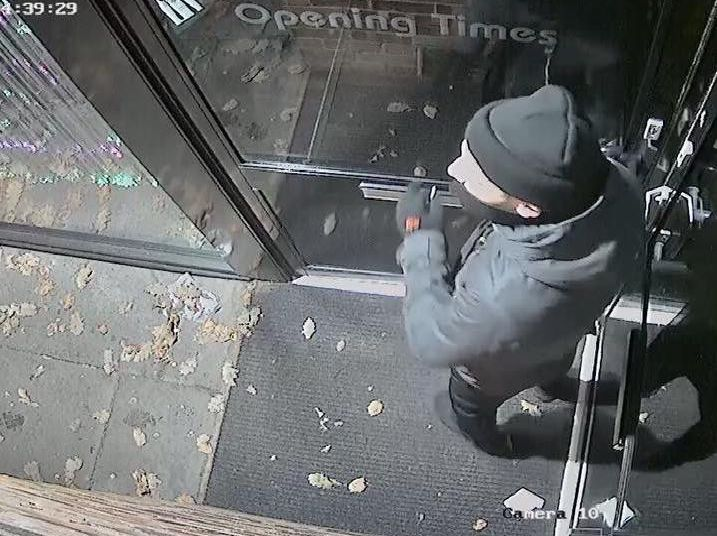 This CCTV image was captured on cameras at Soosi in Oakwood, one of six businesses in the neighbourhood to be burgled this month.
