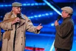 Henry Hall (left) and his singing partner Malcolm White on Britain's Got Talent in 2017. Picture: ITV